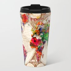 Antique and POP Art Map Travel Mug