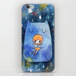 cat hug iPhone Skin