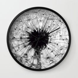 dandelion bw IV Wall Clock