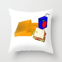 Student Lunch My Favorite Subject Throw Pillow