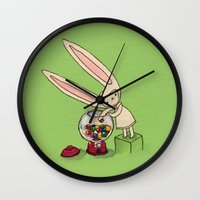 gumball Wall Clocks featuring Gumball Toki by KarolynSeonjoo