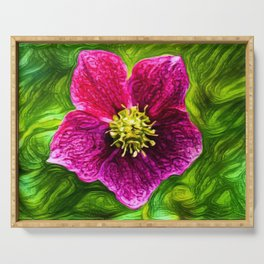 Hellebores Christmas Rose | Painting Serving Tray