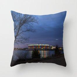 Hampton Coliseum I Throw Pillow