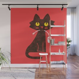 Fitz - Hungry hungry cat (and unfortunate mouse) Wall Mural