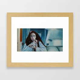 Say Your Right Words Framed Art Print