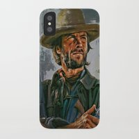 clint eastwood iPhone & iPod Cases featuring  Clint Eastwood by andy551