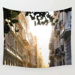 Old Town Sunset Wall Tapestry