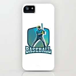 Baseball Softball Players Baseball Bat Hitters Pitcher Gift iPhone Case