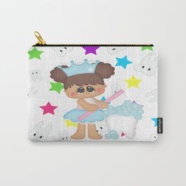 Tooth Fairy Brushing Teeth Carry-All Pouch