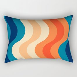 70's and 80's retro colors curving stripes Rectangular Pillow
