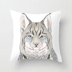 Woodlands lynx Throw Pillow