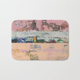 Dogbane Pink Abstract Painting Print Bath Mat