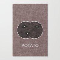 potato Canvas Prints featuring Potato by Carter Payne