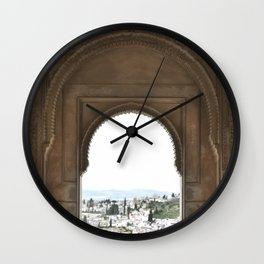 Alhambra Window to Granada Wall Clock