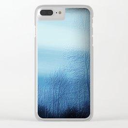 Bleu Noir Dusk Landscape Clear iPhone Case