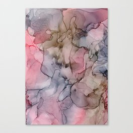 Pinky Inky Canvas Print