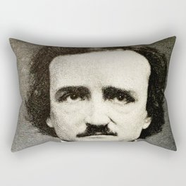 Edgar Allan Poe Engraving Rectangular Pillow