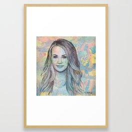 Carrie Underwood - All-American Girl Framed Art Print