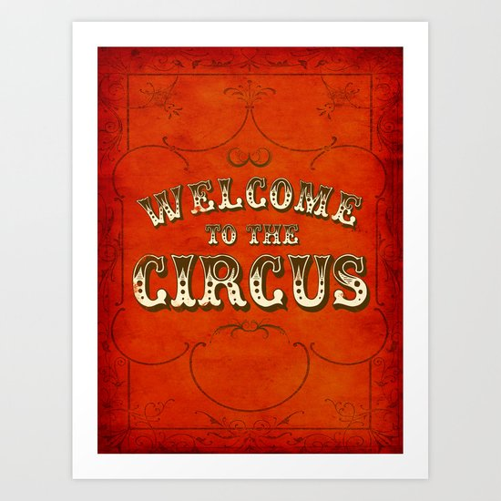 Welcome to the Circus / Dark Art Print