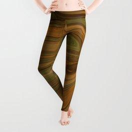 WOULD earth tone camouflage woodgrain Leggings