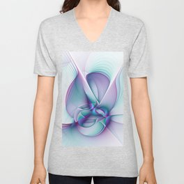 A Colorful Beauty, Abstract Fractal Art Unisex V-Neck