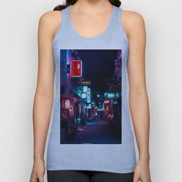 Late Night in Shinjuku's Golden Gai Unisex Tank Top