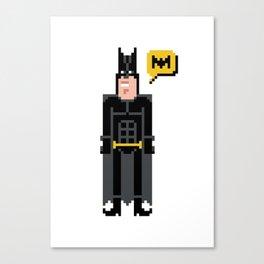 Pixel ManBat Canvas Print