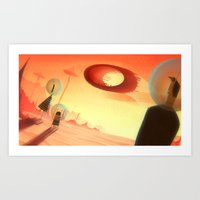 Express Travel to Mars Art Print