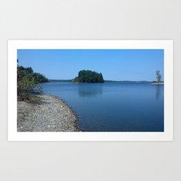 Lakeside views Art Print