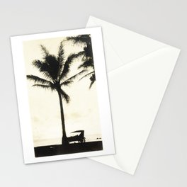 Antique Model-T on the Beach at Waikiki Stationery Cards