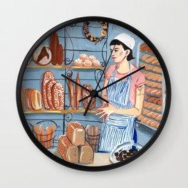 Nora at the Bakery Wall Clock