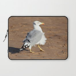Seagull in a windy day with ruffled feathers Laptop Sleeve