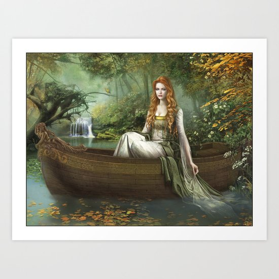 Lady of the Rhine Art Print