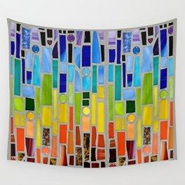 Crystal Vision mosaic art Wall Tapestry