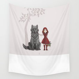 Red Hood Wall Tapestry