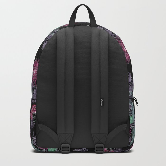 Watercolor floral pattern . 13 Backpack