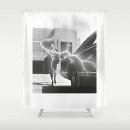 ''Electricity'' Shower Curtain