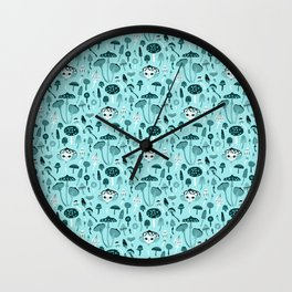 Mad Tea Party III - Mushrooms Wall Clock