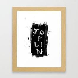 The Legend Series - J O P L I N Framed Art Print