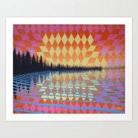 Kaleidoscape V Art Print