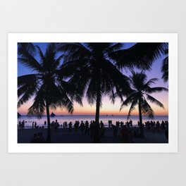 Boracay Island Palm Trees Art Print