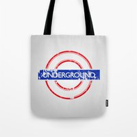 velvet underground Tote Bags featuring Underground by eARTh