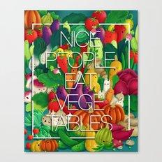 Nice People Eat Vegetables (Feat. Lidija Paradinovic) Canvas Print