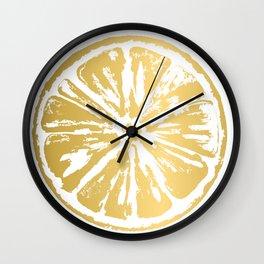 Gold Citrus Wall Clock