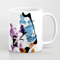 Typographic Number illustrations, watercolor,  3,4,5,7,9 by carographic Mug