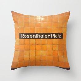 Berlin U-Bahn Memories - Rosenthaler Platz Throw Pillow