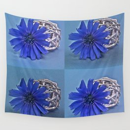 Still life with chicory flower Wall Tapestry