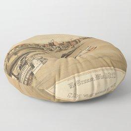 La Crosse Wisconsin 1873 Floor Pillow