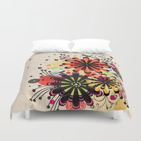 blossom Duvet Covers featuring Blossom by Kakel