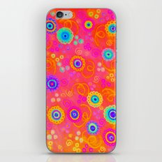 SWIZZLE STICK - Sweet Cherry Red Fruity Candy Swirls Abstract Watercolor Painting Feminine Art iPhone & iPod Skin
